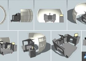 Sea Gunnery Trainer mockup 4m dome